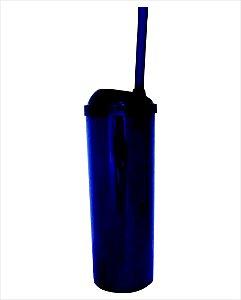 Copo Long Drink com Canudo 300ml - Azul Mar