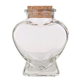 Potinho de Vidro Coração com Rolha 100ml - Yoss Comercial