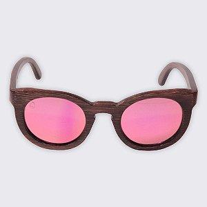 Óculos de Sol - Madeira - Joaquina Pink