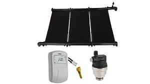 Aquecedor Solar - Kit 18m² + 1 Controlador Digital Tholz + 1 Válvula Alívio + 1 Poço Sensor