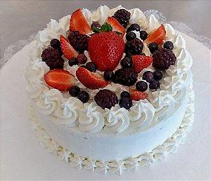 Torta Frutas Vermelhas - Morangos, Cerejas e Mirtilos