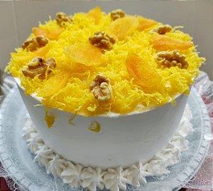 Torta Marta Rocha - Nozes, Ameixas, Suspiros,fios de ovos