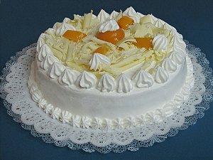 Torta Anninha - Pêssegos com Chocolate Branco