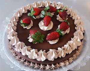 Torta Doce Pecado – Creme de Chocolate ou Brigadeiro e Morangos