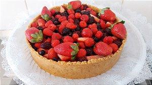 Tortelete Frutas Vermelhas - Morangos, Cerejas e Mirtilos ou Amora ou Framboesa
