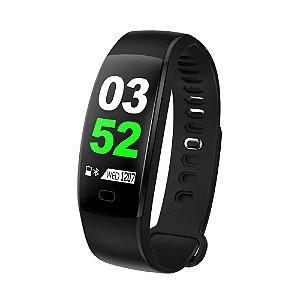 Pulseira Inteligente F64 HR Bluetooth e tela touch colorida