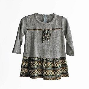 Vestido com malha – CÓRDOBA cinza