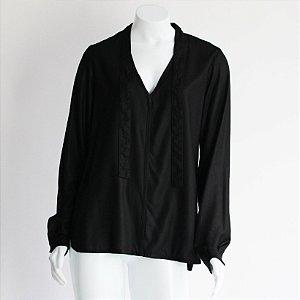 Camisa com Laço - BAGÉ Preto