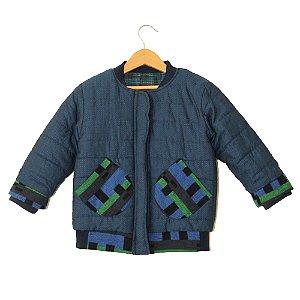 Jaqueta tecido - Bodo.B - Azul com verde