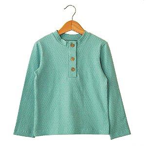 Camiseta de Botões - Arborg.A - Azul Claro