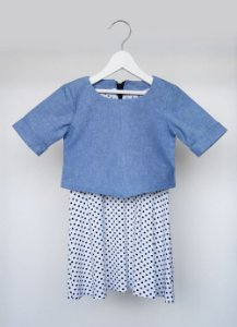 Vestido - Wardandi . A - azul