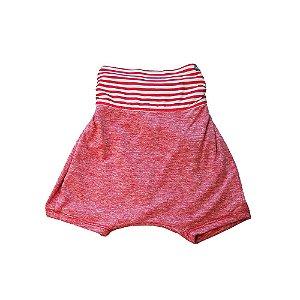 Shorts saruel - Solta . C - Vermelho listrado