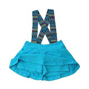 Shorts saia - Pula . B - Azul turquesa