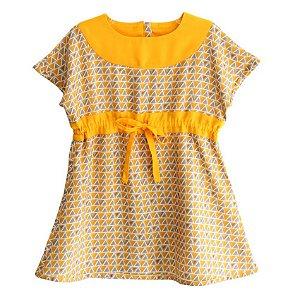Vestido Pala -Lótus . B - Amarelo