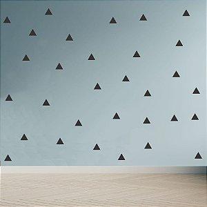 Adesivo Decoração Infantil Triângulos Pretos 180 Unidades