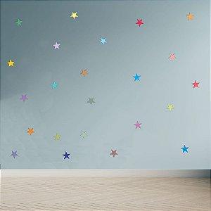 Adesivo Decoração Infantil Estrelas Estrelinhas Coloridas