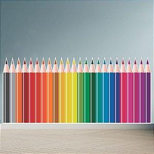 Adesivo Infantil Parede De Lápis Coloridos Diversão Decorativo