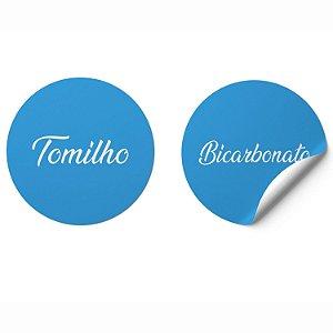 Adesivo Porta Temperos Mantimentos Impermeável Azul