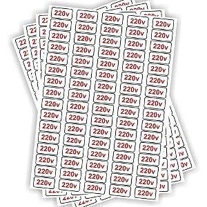 Etiquetas Adesivo De Voltagem para Tomadas - 220v