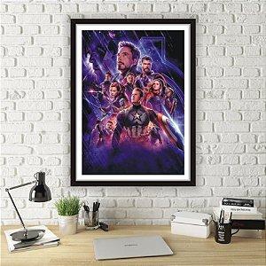 Quadro Avengers Vingadores Heróis Com Moldura