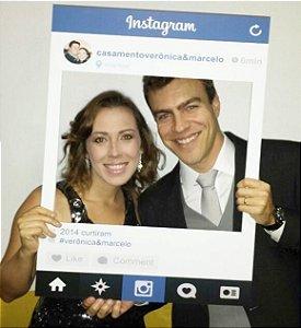 Placa Instagram Facebook Youtube Moldura Redes Sociais para Festas