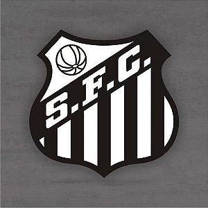 Quadro Decorativo de Times Futebol - Santos - Mdf 3mm