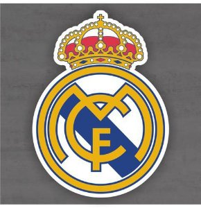 Quadro Decorativo de Times Futebol - Real Madrid - Mdf 3mm