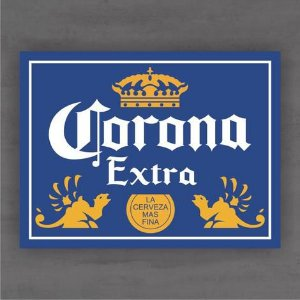 Quadro Decorativo de Bar - Corona - Mdf 3mm