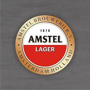 Placa Decorativa - Amstel Lager - Medida 33x33cm