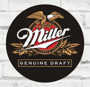 Placa Decorativa - Miller - Medida 33x33cm