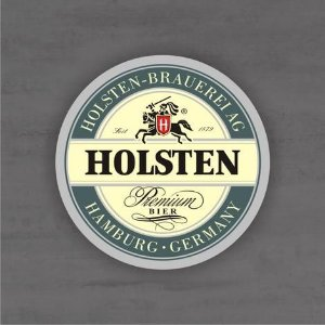 Placa Decorativa - Holsten - Medida 33x33cm