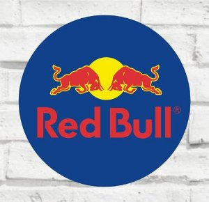 Placa Decorativa - Red Bull - Medida 33x33cm