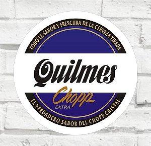 Placa Decorativa - Quilmes - Medida 33x33cm