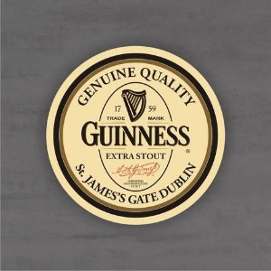 Placa Decorativa - Guinness - Medida 33x33cm