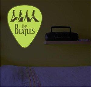 Adesivo Decorativo Brilha No Escuro - Palheta Beatles