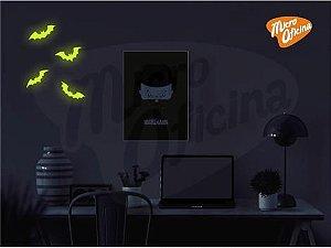Adesivo Brilha No Escuro - 4 Morcegos Halloween Novo
