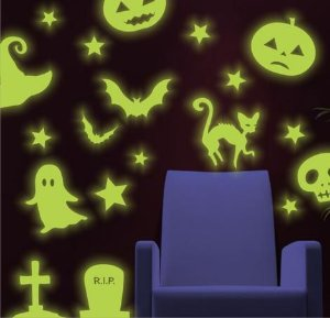 Adesivo Brilha No Escuro Neon - Halloween - Dia Das Bruxas