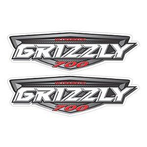 Adesivo Yamaha Grizzly 350 - Kit 2 Adesivos Laminados