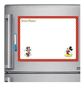 Ímã De Geladeira Porta Recados Anotações Mickey E Minnie