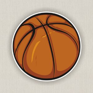 Quadro Decorativo Bola De Basquete Nba Baketball Ball