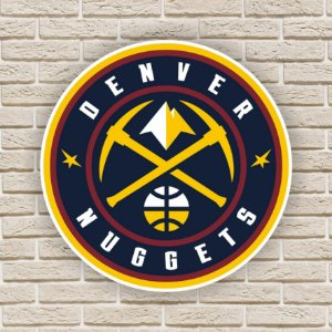 Quadro Decorativo Denver Nuggets Nba Basquete