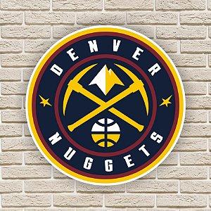 Quadro Decorativo Denver Nuggets Nba Basquete