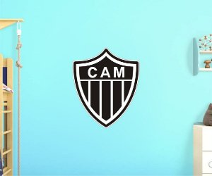 Adesivo De Time - Atlético Mineiro - Grande - Medida: 64cm x 77cm