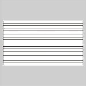 Adesivo Quadro Branco Pautado Pauta Musical 60 X 44 Cm