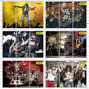 Quadro Triplo Guns n Roses Escolha o Seu Modelo!!