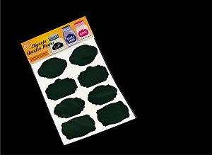 Etiqueta Vinil Verde Escura Adesiva para Caneta Giz Líquido