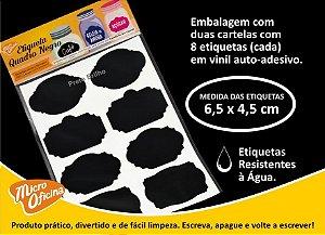 Etiqueta Quadro Negro Adesiva Para Caneta Giz Líquido