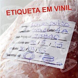 Etiqueta Vinil Identificação - Alimento Anvisa Vigilância Sanitária