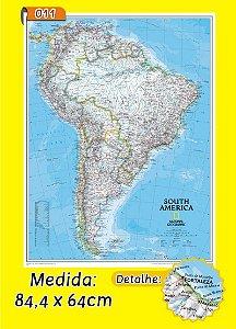 Mapa Mundi em Painel de Lona - Modelo 11