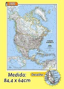 Mapa Mundi em Painel de Lona - Modelo 10